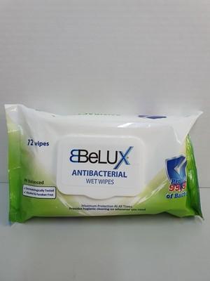 BELUX LINGETTES ANTI-BACTERIE 72 PCS