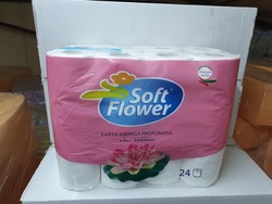 SOFT FLOWER PAPIER WC 24 RLX 3 PLIS