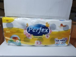 PERFEX PAPIER WC 10 RLX 3 PLIS PARFUME PECHE