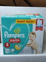 PAMPERS N°4 72 PCS
